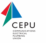 Communications, Electrical & Plumbing Union logo